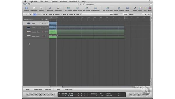 Using loops to build a groove: Logic Pro 8 Essential Training