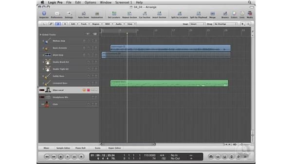 Setting up a cue: Logic Pro 8 Essential Training