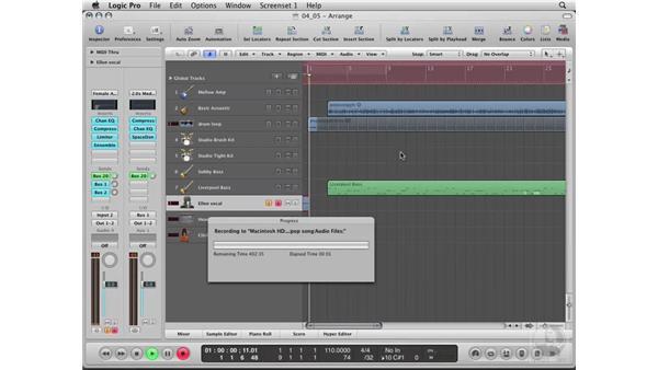 Recording the vocal: Logic Pro 8 Essential Training