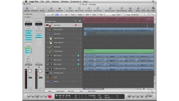 Tracking a live instrument: Logic Pro 8 Essential Training