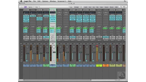 Mixing the song: Logic Pro 8 Essential Training