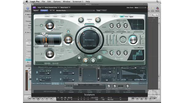 Sound sculpting in Sculpture: Logic Pro 8 Essential Training