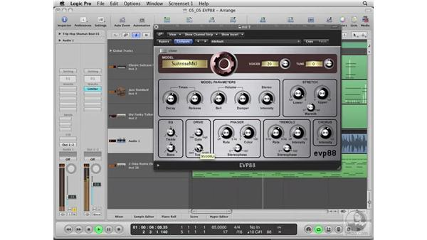 Using the EVP88 Vintage Piano Synth: Logic Pro 8 Essential Training