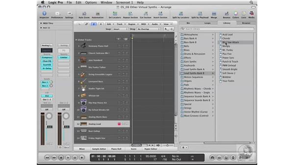 Exploring other virtual synths: Logic Pro 8 Essential Training