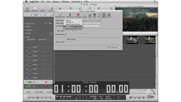 Importing a movie into Logic: Logic Pro 8 Essential Training