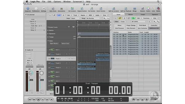 Exporting OMF and XML files from Final Cut Pro into Logic: Logic Pro 8 Essential Training