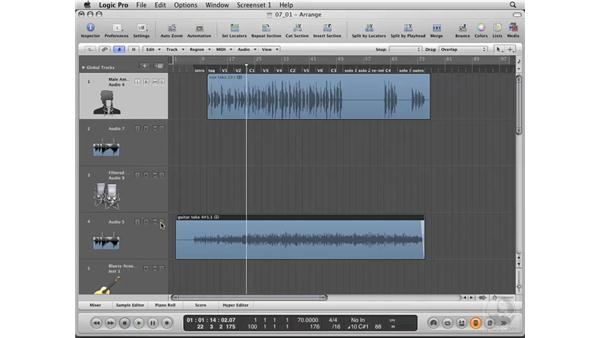 Beginning the remixing process from a vocal track: Logic Pro 8 Essential Training