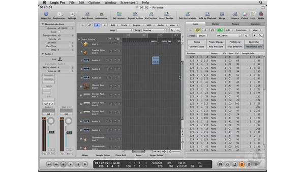 Building the rhythm track using Logic's library: Logic Pro 8 Essential Training