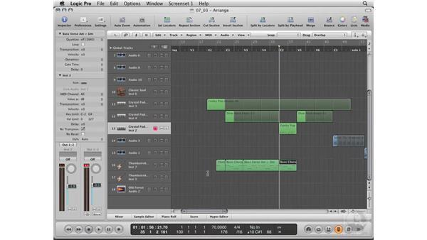 Editing the parts of the rhythm : Logic Pro 8 Essential Training