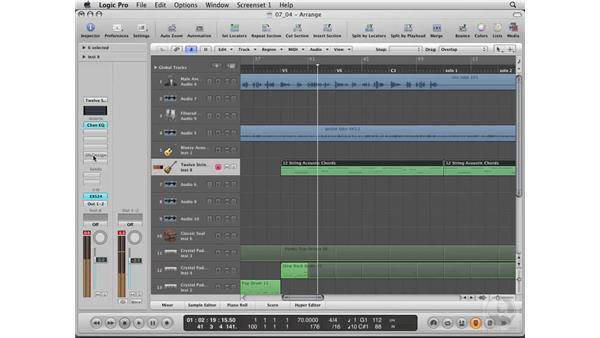 Adding guitar strums using Delay Designer: Logic Pro 8 Essential Training