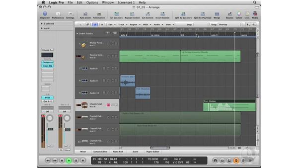 Adding the instrumental solos: Logic Pro 8 Essential Training
