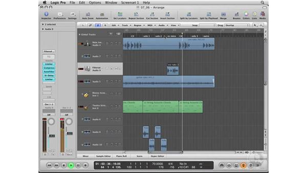Editing and adding vocal effects: Logic Pro 8 Essential Training