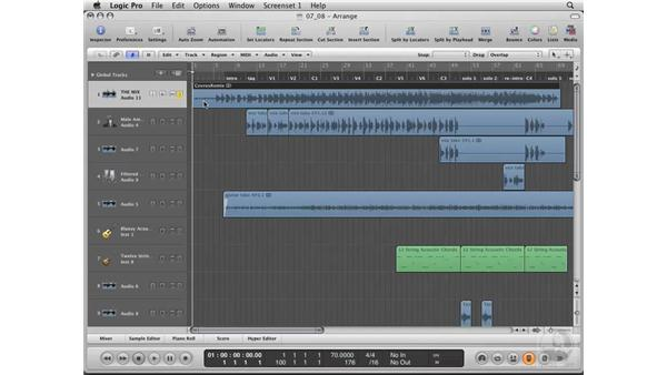 Bouncing the mix: Logic Pro 8 Essential Training