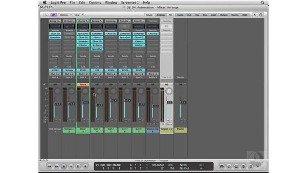 Writing and editing volume automation: Logic Pro 8 Essential Training