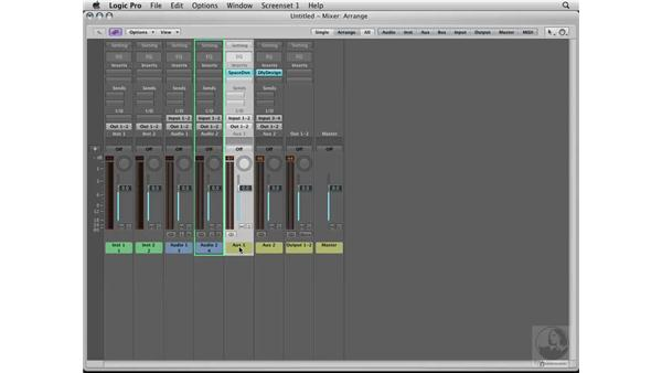 Setting up busses for reverb and delay: Logic Pro 8 Essential Training