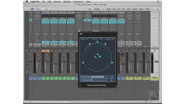 "Learning how to ""Surroundify"" your mix: Logic Pro 8 Essential Training"