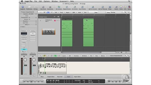 Editing in Score layout: Logic Pro 8 Essential Training