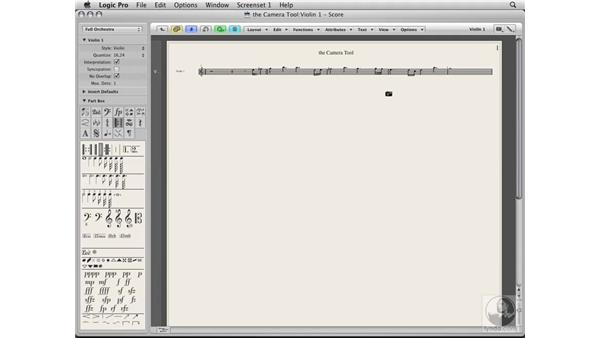 Using the Camera tool for snapshots: Logic Pro 8 Essential Training