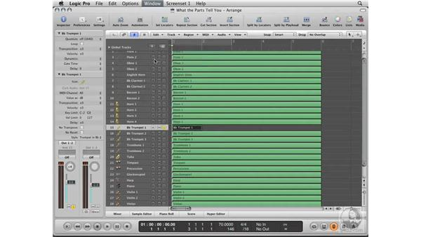 Understanding what the parts tell you: Logic Pro 8 Essential Training