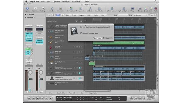 Saving custom settings and templates: Logic Pro 8 Essential Training