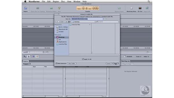 Burning discs with Waveburner: Logic Pro 8 Essential Training