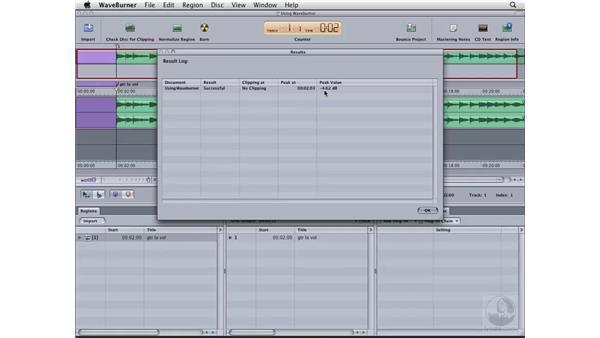 Normalizing the audio: Logic Pro 8 Essential Training