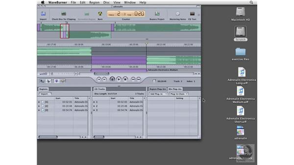 Deciding whether to burn, bounce, or save: Logic Pro 8 Essential Training