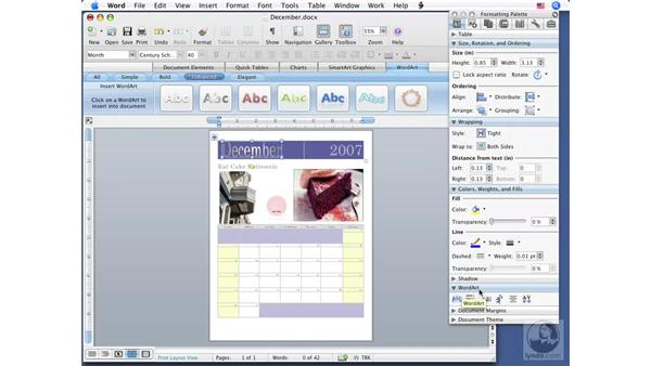 Using WordArt: Office for Mac 2008 New Features