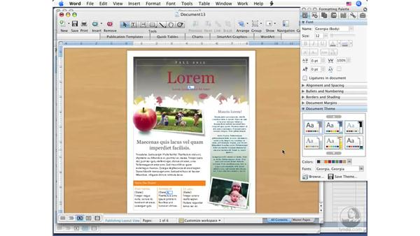 Using themes: Office for Mac 2008 New Features