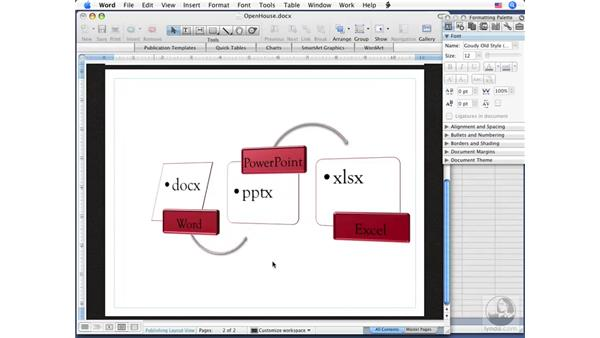 About XML formats: Office for Mac 2008 New Features