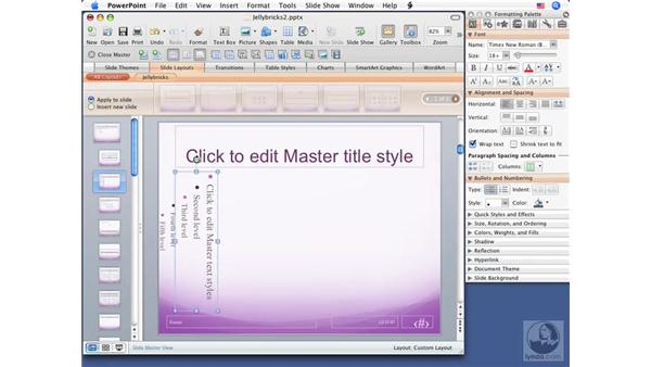 Creating custom layouts: Office for Mac 2008 New Features