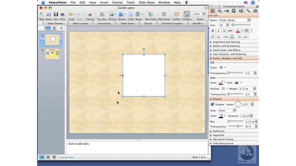 Using Dynamic Guides: Office for Mac 2008 New Features