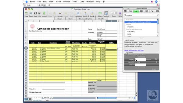 Using the Formula Builder: Office for Mac 2008 New Features