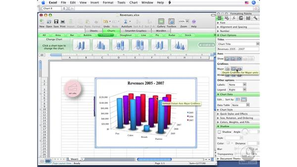 Creating charts: Office for Mac 2008 New Features