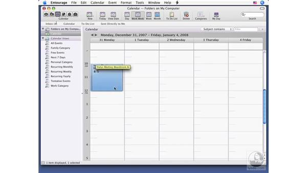Managing events and tasks in Calendar: Office for Mac 2008 New Features