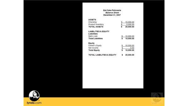 Using a balance sheet: QuickBooks Pro 2008 Essential Training