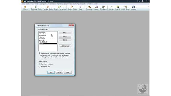 Using the Navigation and Icon bars: QuickBooks Pro 2008 Essential Training
