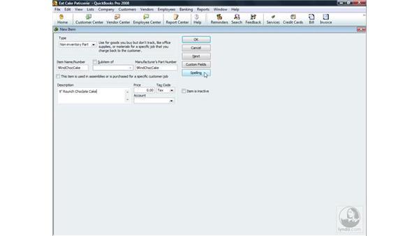 Adding a non-inventory item: QuickBooks Pro 2008 Essential Training