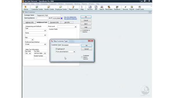 Adding a new customer: QuickBooks Pro 2008 Essential Training