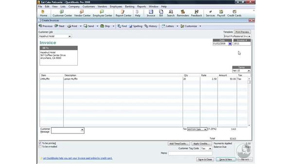 Using invoice templates: QuickBooks Pro 2008 Essential Training