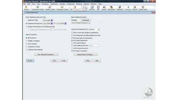 Creating client statements: QuickBooks Pro 2008 Essential Training