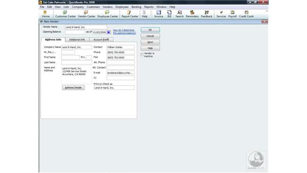 Opening balance: QuickBooks Pro 2008 Essential Training