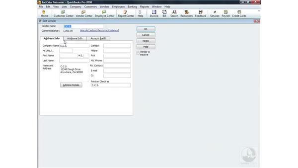 Merging vendors: QuickBooks Pro 2008 Essential Training