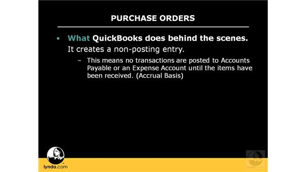 Understanding the reason for purchase orders: QuickBooks Pro 2008 Essential Training