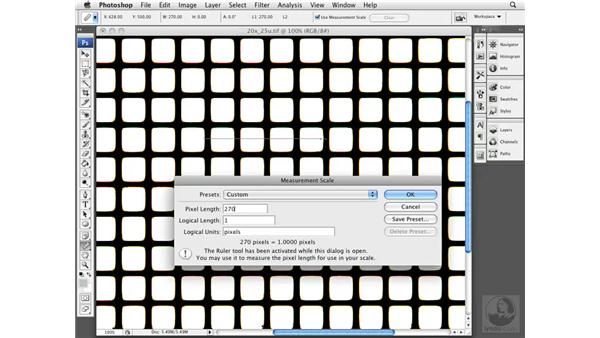 Creating a calibration: Photoshop CS3 Extended for BioMedical Research