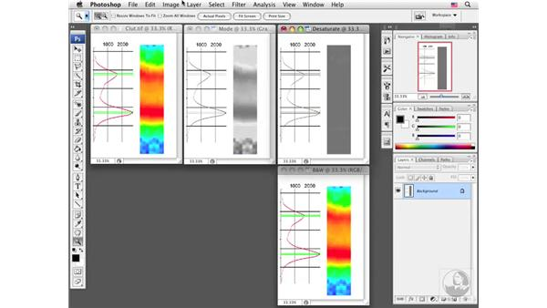 Creating a representative grayscale image: Photoshop CS3 Extended for BioMedical Research