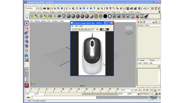 Using a three-button mouse: Maya 2008 Essential Training
