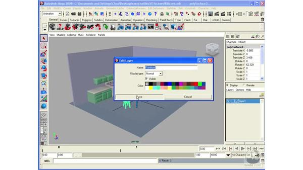 Working with layers: Maya 2008 Essential Training
