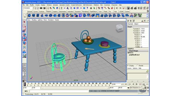 Rotating and scaling: Maya 2008 Essential Training