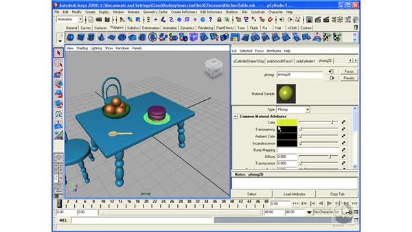 Working with the Attribute Editor: Maya 2008 Essential Training
